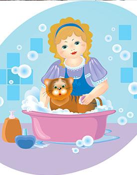 Use Splash Paddy Guard When Bathing Small Pets