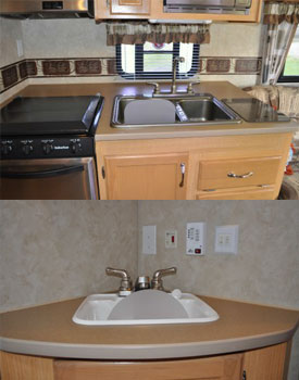 Use Splash Paddy Guards For RV Camper Sinks